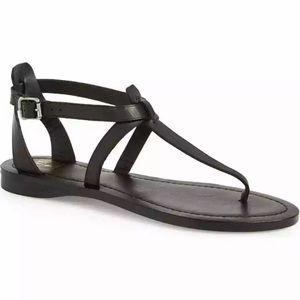 Frye 9M Rachel T Strap Flat Sandals 70118 Open Toe